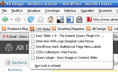 Aggregatore di Feed Rss di Firefox