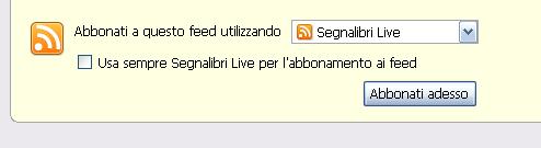 Iscrizione al Feed Rss su Firefox