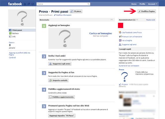 la nuova pagina facebook creata
