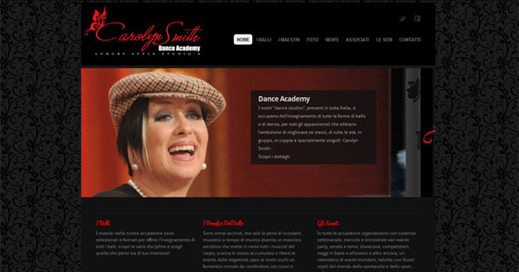 Sito Web Carolyn Smith Dance Academy
