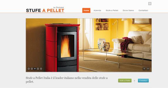 Creazione Sito Web Stufe a Pellet Italia